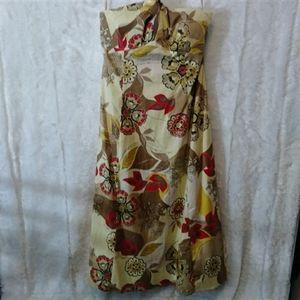 Altered Amanda Lane Floral Halter Dress